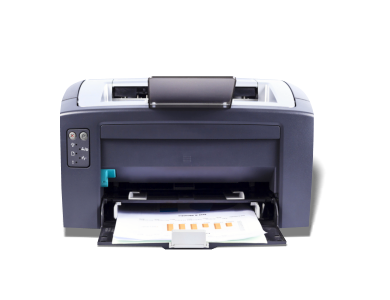 Printer with printed papers